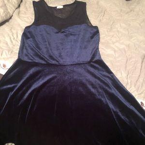 Now Velvet Fit&Flare Dress